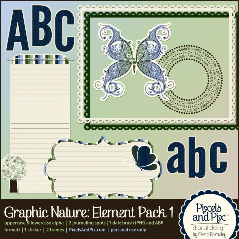 Graphic Nature Element Pack 1