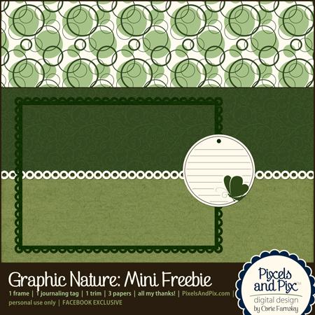 Digital scrapbooking freebie - Graphic Nature