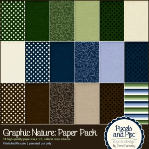 Graphic Nature Paper Pack
