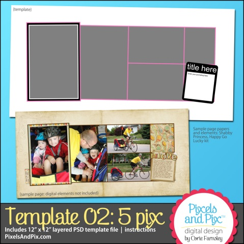 Template #2 by Pixels and Pix Digital Design