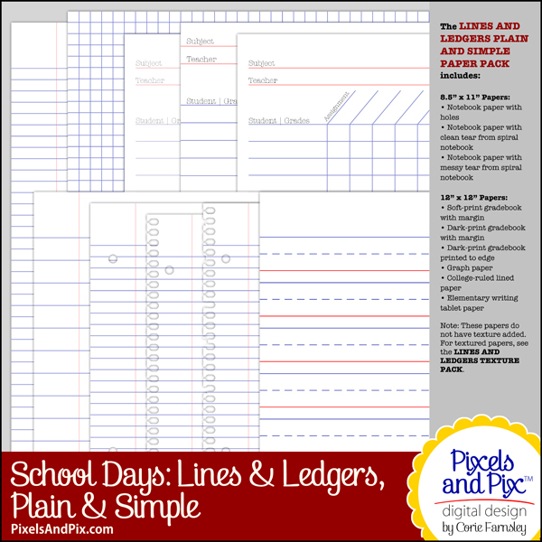 School Days Lines and Ledgers, Plain and Simple