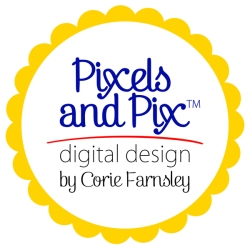 Pixels and Pix Digital Designs by Corie Farnsley