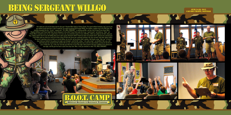 Drill Sergeant Willgo digital scrapbooking layout