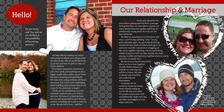 Emily and Tim adoption profile