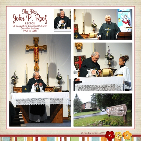 Father John scrapbook page
